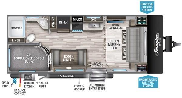 2020 Grand Design Rv Imagine Xls 21bhe Colton Rv In Ny