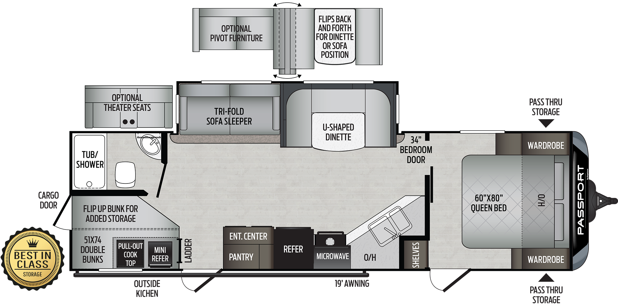2020 Keystone RV Passport 2820BH