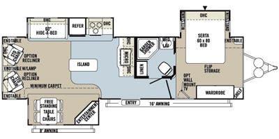 2014 Forest River Flagstaff SUPER LITE 8321KBS