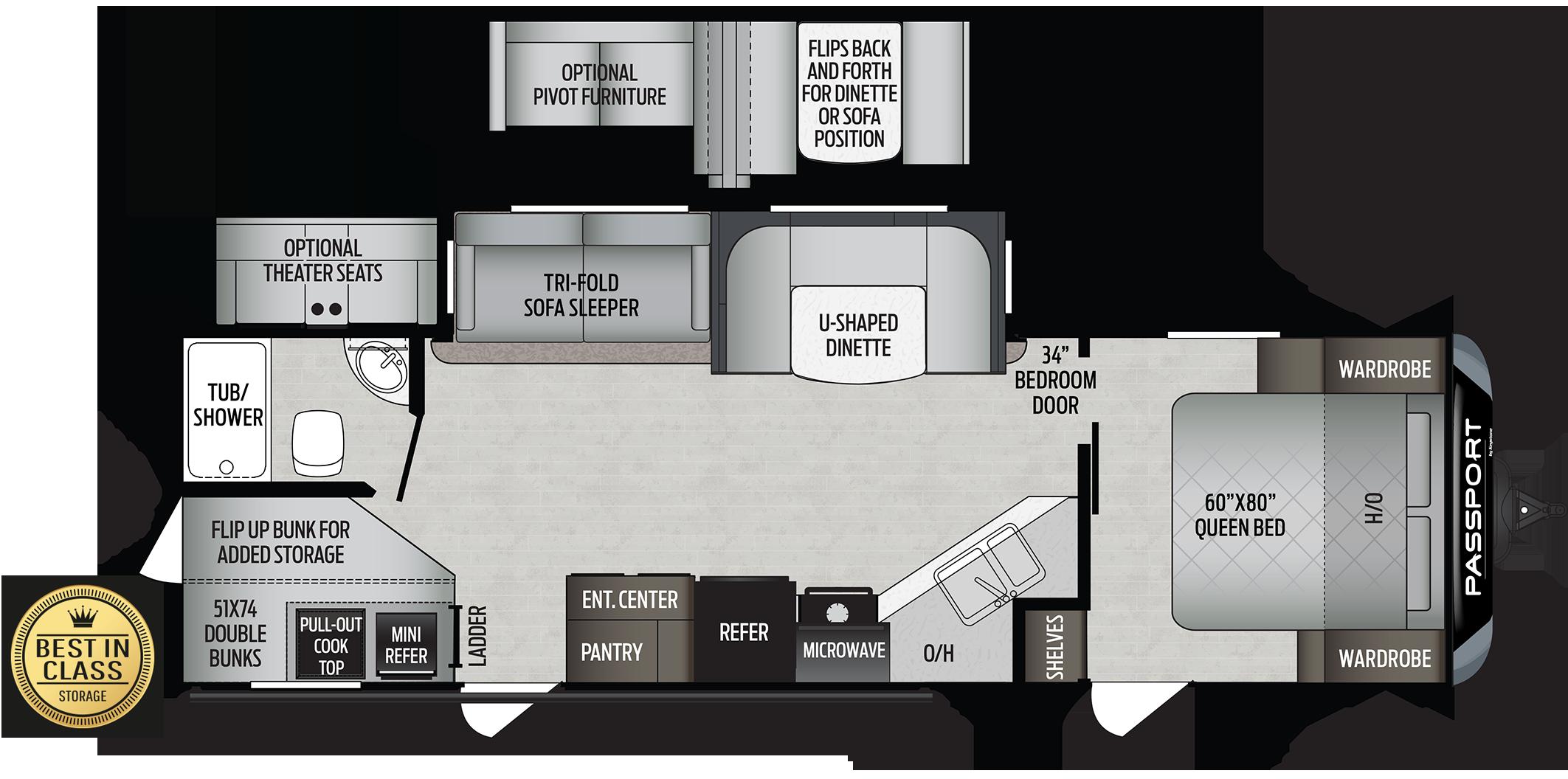 2020 Keystone RV PASSPORT GT 2820BH