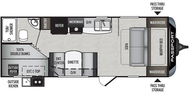 2020 Keystone RV PASSPORT SL SERIES 239ML