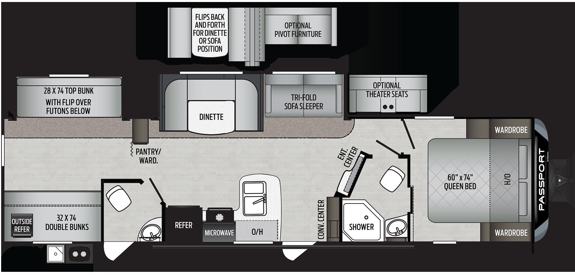 2020 Keystone RV PASSPORT GT SERIES 3351BH