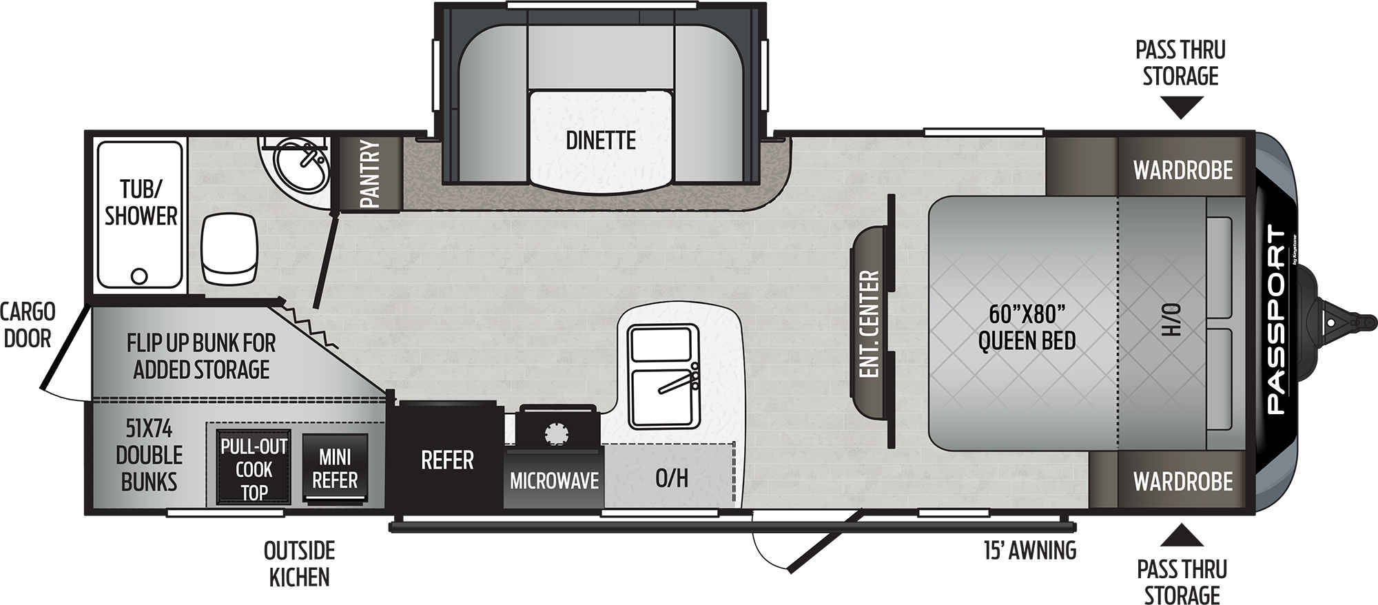 2021 Keystone RV PASSPORT SL SERIES 240BH