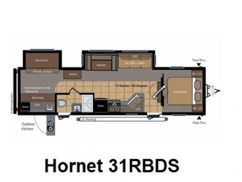 2011 Keystone RV HORNET 31RBDS
