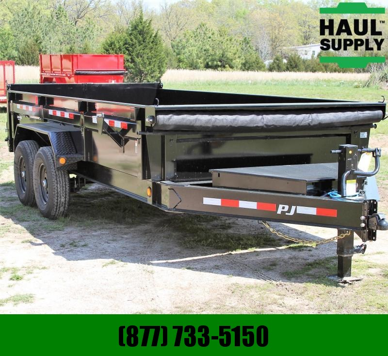 PJ Trailers 83X16 14K LowPro Dump Dexter drop axles 2