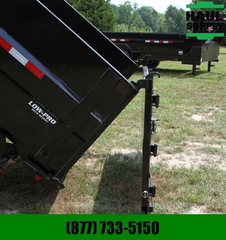 PJ Trailers 83X16 16K Low Pro High side Gooseneck Dum