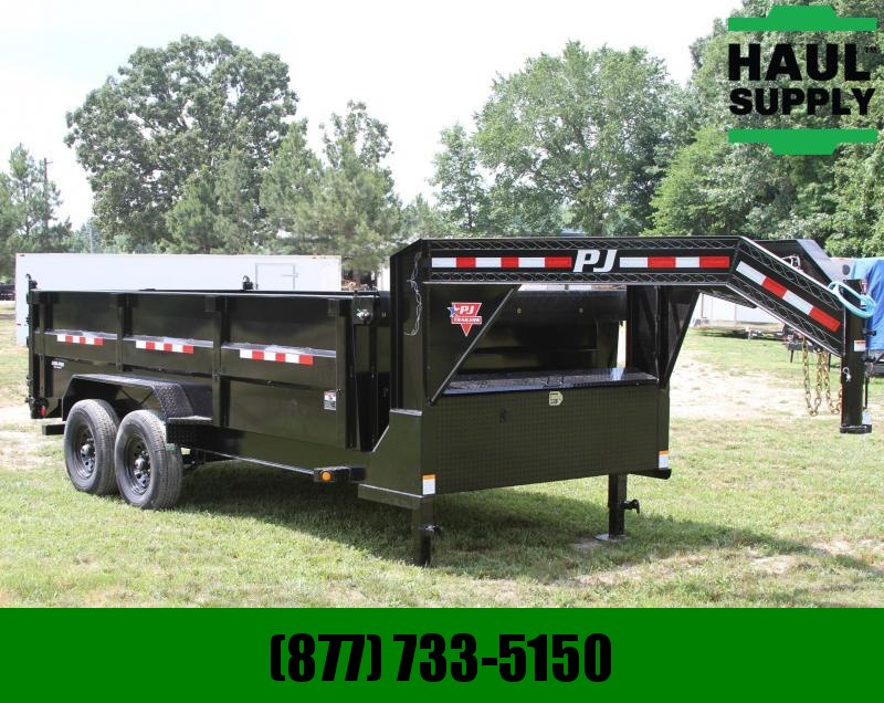 PJ Trailers 83X16 16K Low Pro High side Gooseneck Dum
