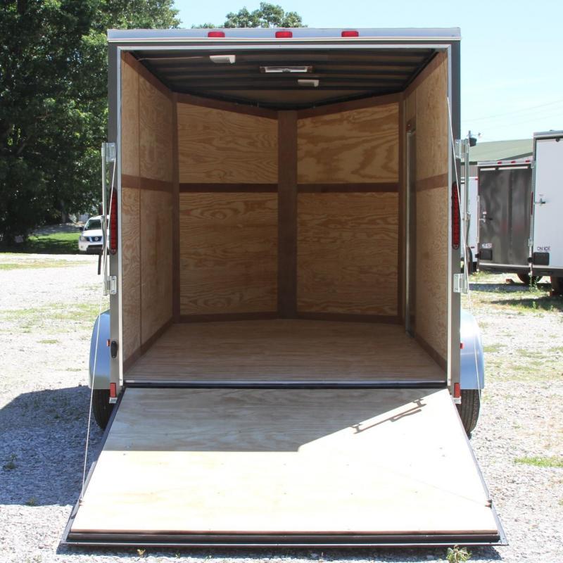 Cynergy Cargo 7X12 7K XXT V-NOSE CARGO TRAILER REAR RAM