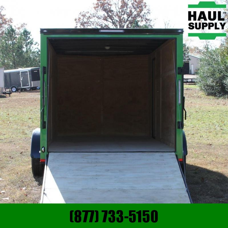 Lark 7X16 7K V-NOSE CARGO TRAILER REAR RAMP