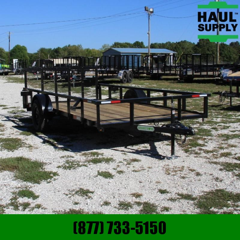 Wicked Trailer Manufacturing 76X14 UTILITY TRAILER W/DOVE TUBE TOP 4FT
