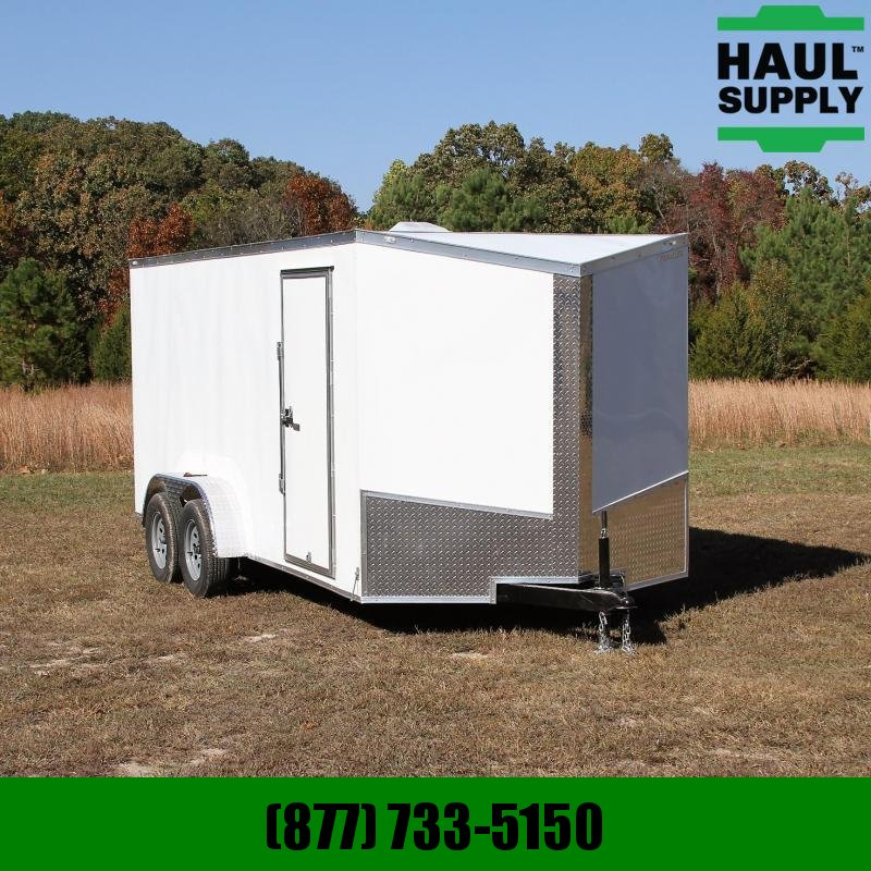 Traveler Cargo 7X16 7K V-nose Cargo Trailer Rear Ramp  S