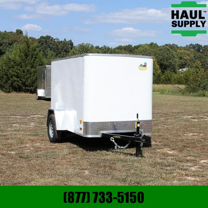Covered Wagon Trailers 5X8 Radius Front Cargo Trailer Single Rea