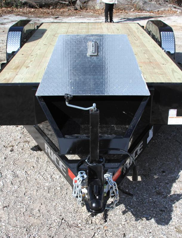 Rice 82X18 7K OPEN CAR HAULER REMOVEABLE TOOLB