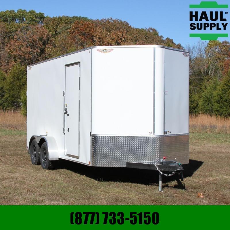 H and H Trailer 7X16 7K V-nose XXT Cargo Trailer w/Roof V