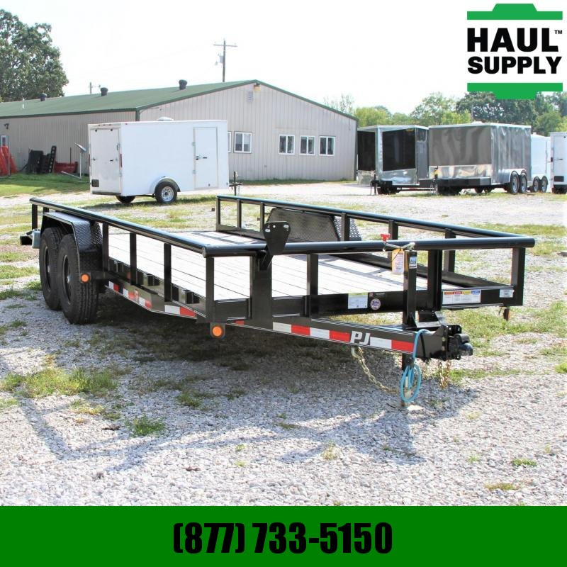 PJ Trailers 83X20 14K Pipetop Equipment Trailer 5ft S