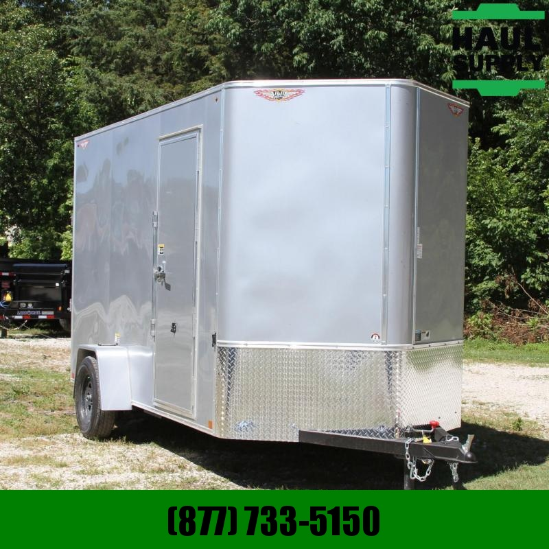 H and H Trailer 6X12 V-NOSE CARGO TRAILER XXT REAR RAMP