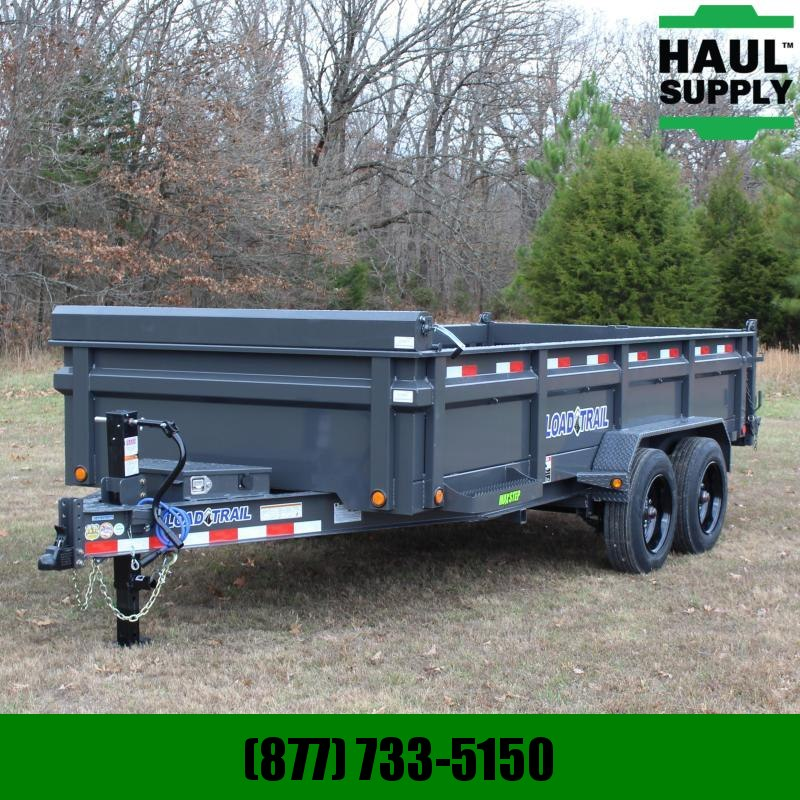 Load Trail 83X16 16K DUMP TARP RAMPS IBEAM+MORE