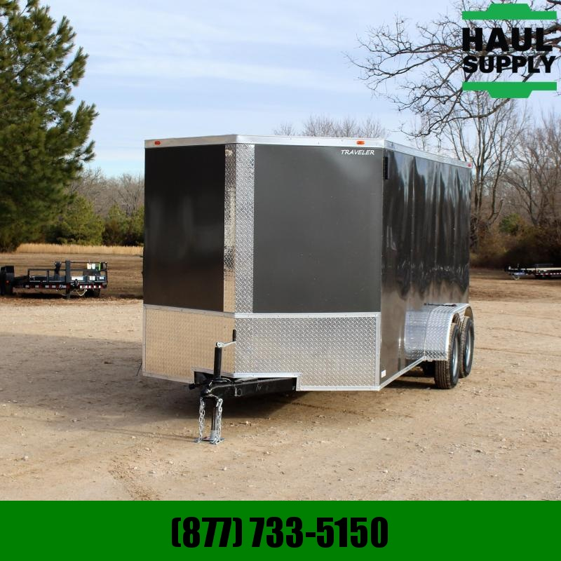 Traveler Cargo 7X16 7K V-NOSE CARGO TRAILER SIDE DOOR W/