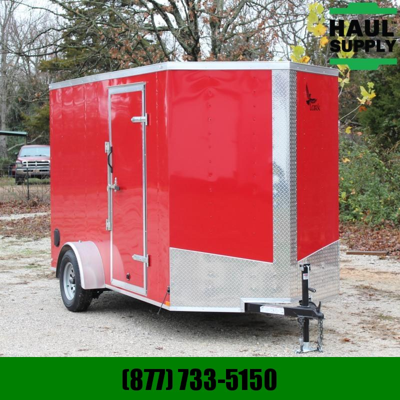 Lark 6X12 V-NOSE CARGO TRAILER XXT SIDE VENTS