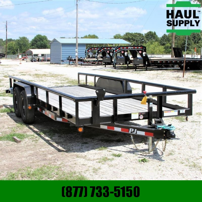 PJ Trailers 83X20 14K Angle Pipetop All weather wirin