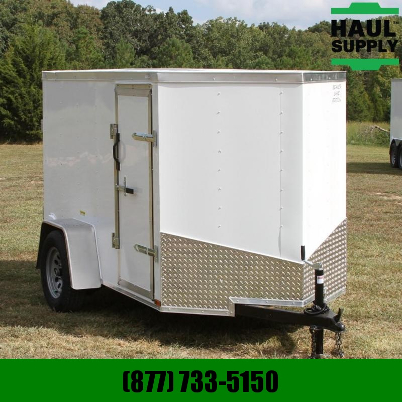 Lark 5X8 V-nose Cargo Trailer Thermocool ceili