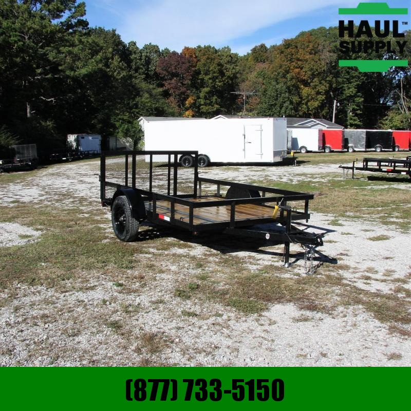 L&O Manufacturing 76X10 UTILITY TRAILER W/DOVE AND 3FT GATE