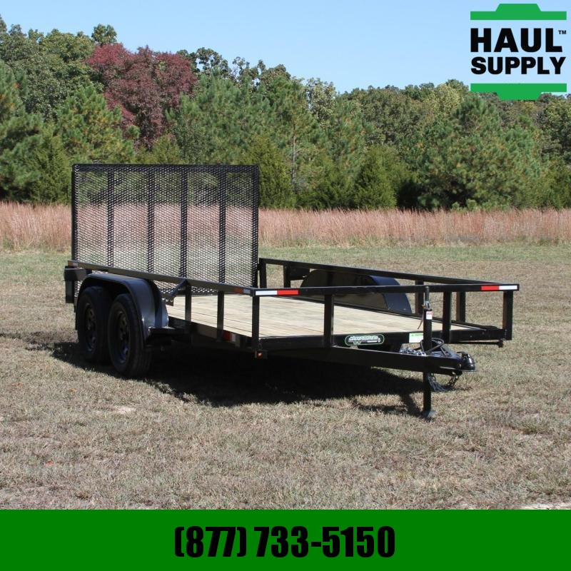 Wicked Trailer Manufacturing 76X14 7K UTILITY TRAILER 4FT GATE RADIAL