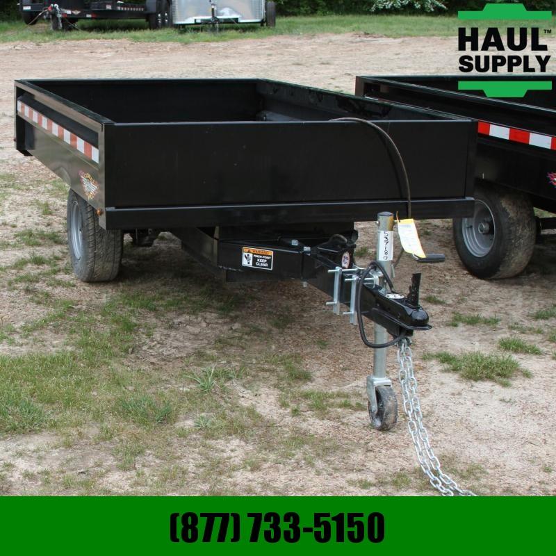 H and H Trailer 4.5X8 Homeowner Dump Trailer 11ga Steel d