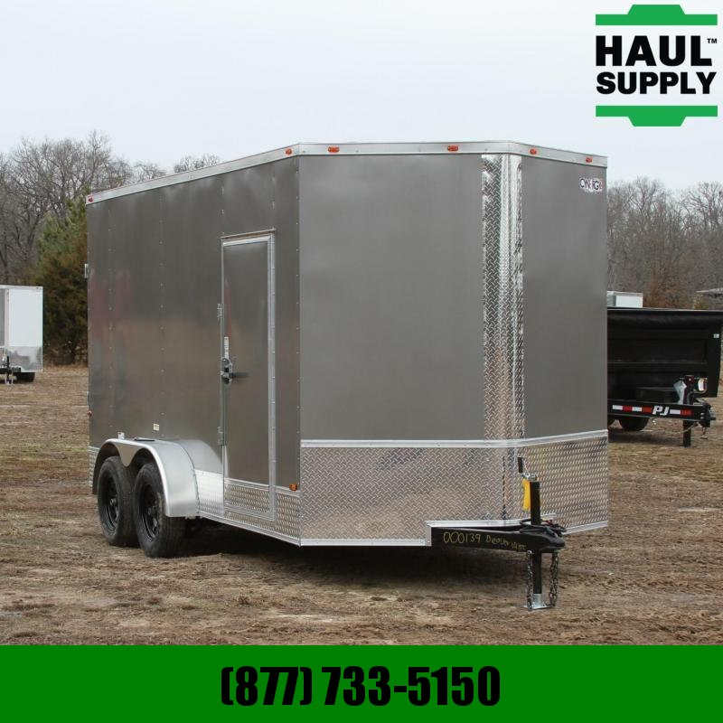Cynergy Cargo 7X14 7K V-NOSE CARGO TRAILER XXT REAR RAM