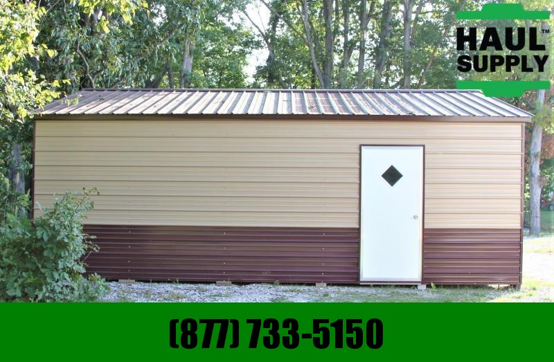 All Steel Carports 22WX26LX8H 2 CAR GARAGE
