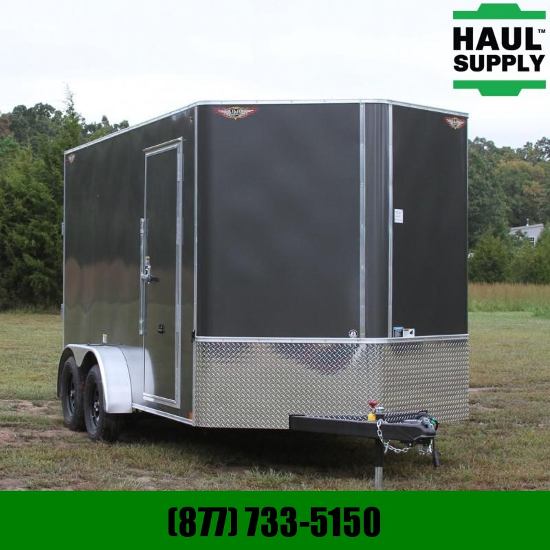 H and H Trailer 7X14 7K V-nose XXT Cargo Trailer Rivetles