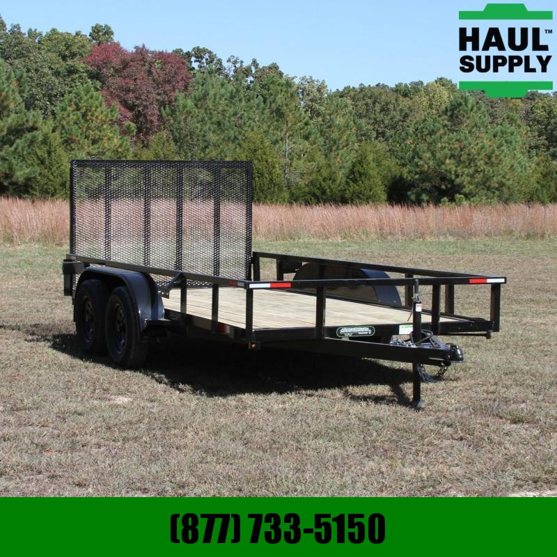 Wicked Trailer Manufacturing 76X14 7K Utility Trailer w/ 4ft gate Radi