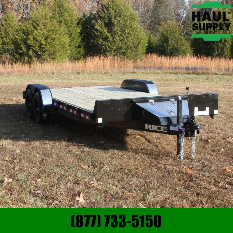 Rice 82X20 10K OPEN CAR HAULER 5FT SLIDE OUT R