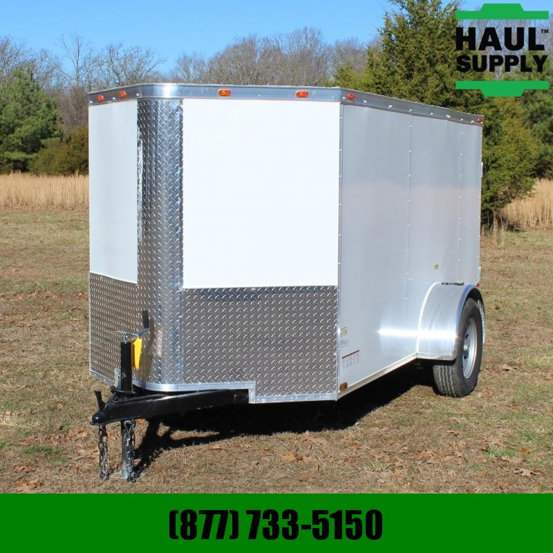 Cynergy Cargo 5X10 V-NOSE CARGO TRAILER REAR RAMP SIDE