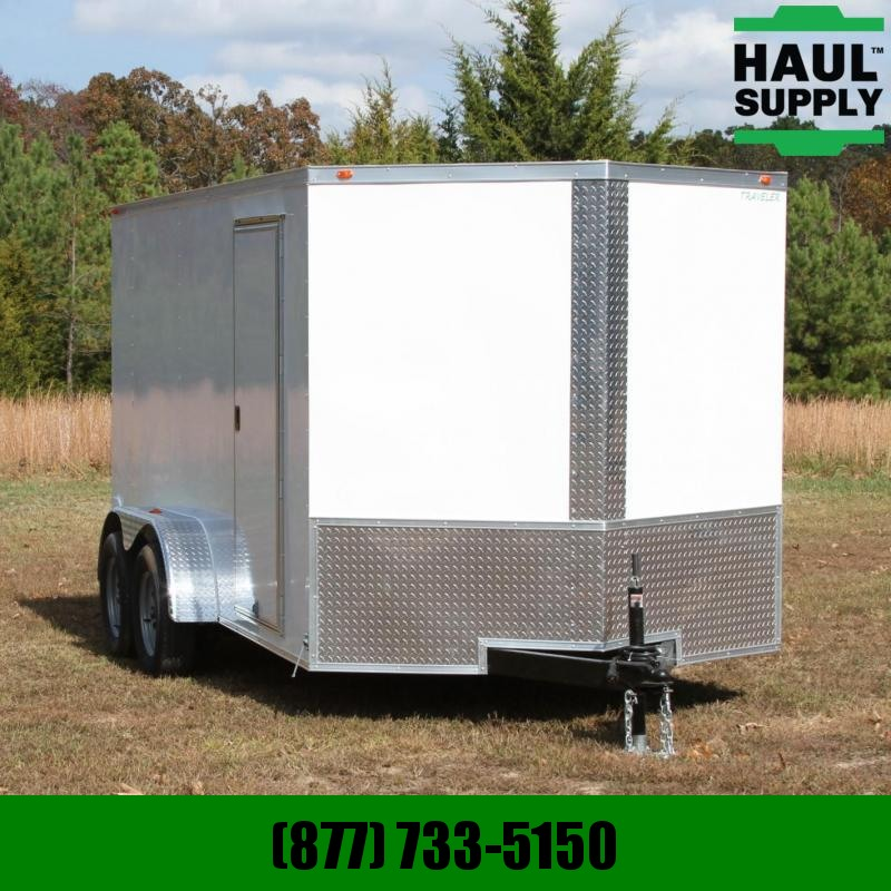 Traveler Cargo 7X14 7K V-nose Cargo Trailer side vents R