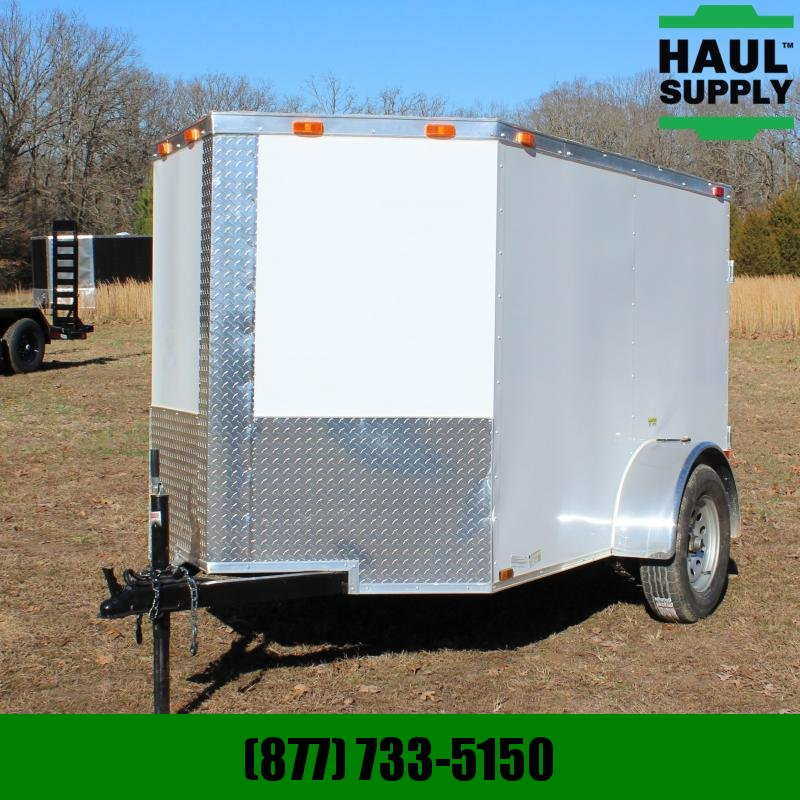 Cynergy Cargo 5X8 V-NOSE CARGO TRAILER REAR RAMP