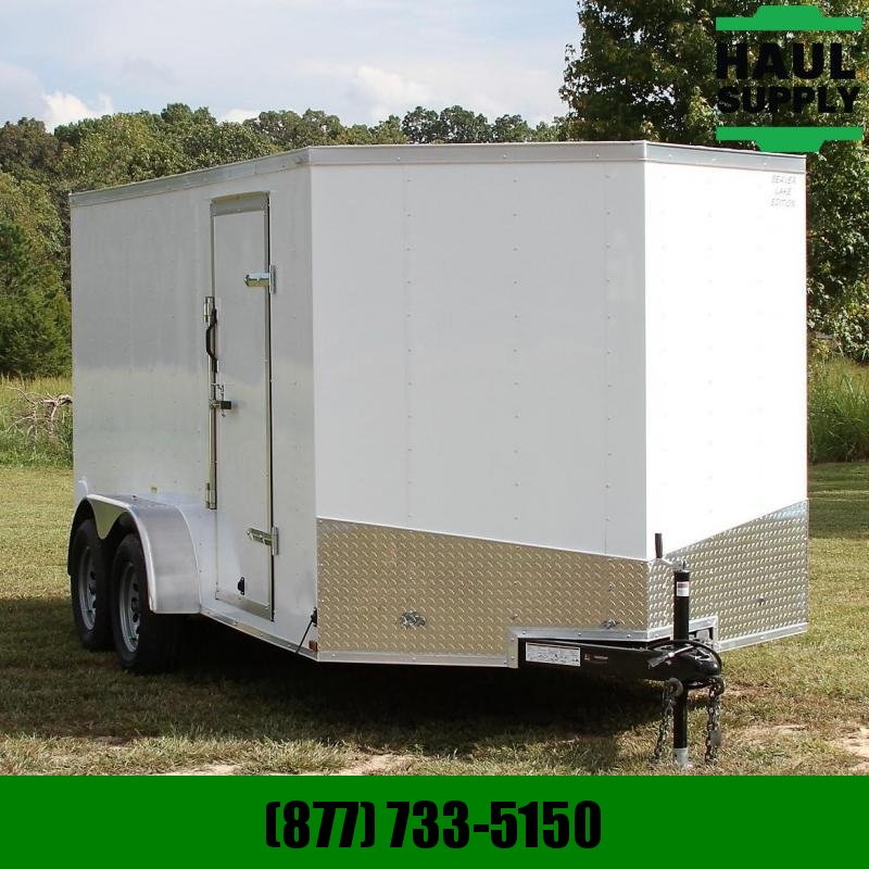 Lark 7X14 7K V-nose Enclosed Cargo Trailer Rea
