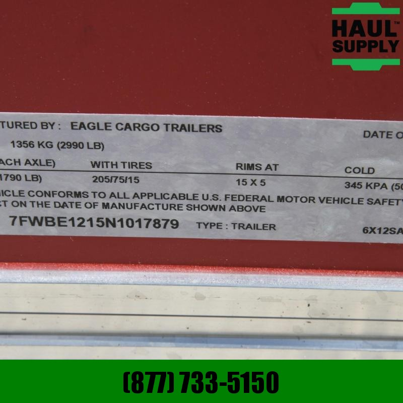 Traveler Cargo 6X12 V-NOSE CARGO TRAILER REAR RAMP SIDE