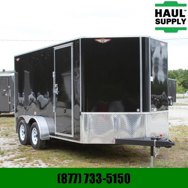 H and H Trailer 7X14 7K XXT V-NOSE CARGO TRAILER ROOF VEN