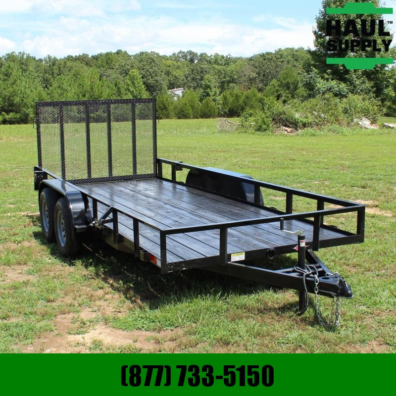 Stingray LLC 76X16 7K UTILITY TRAILER 4FT REAR GATE