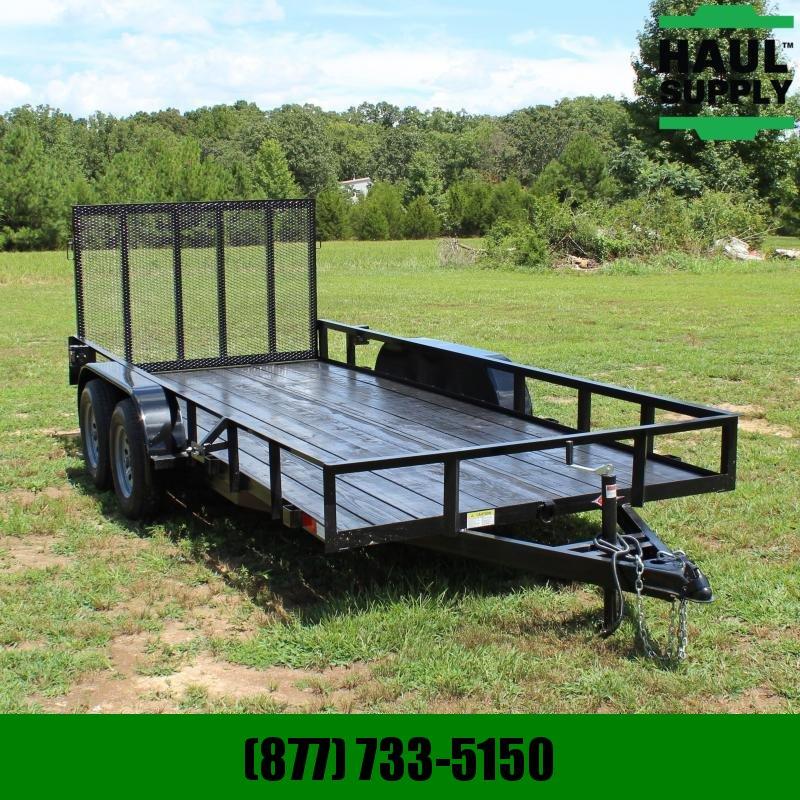 Stingray LLC 76X16 7K UTILITY TRAILER 4FT REAR GATE