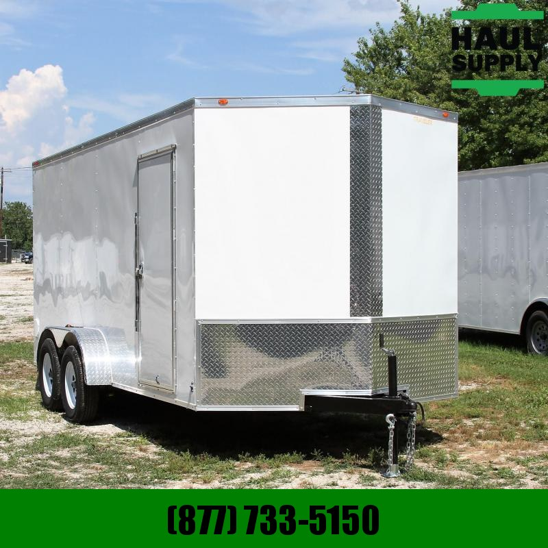 Traveler Cargo 7X16 V-nose 7K XT Cargo Trailer Rear Ramp
