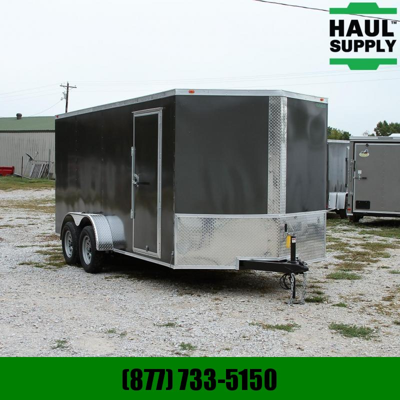 Traveler Cargo 7X16 7K V-nose Cargo Trailer Rear Ramp Ra