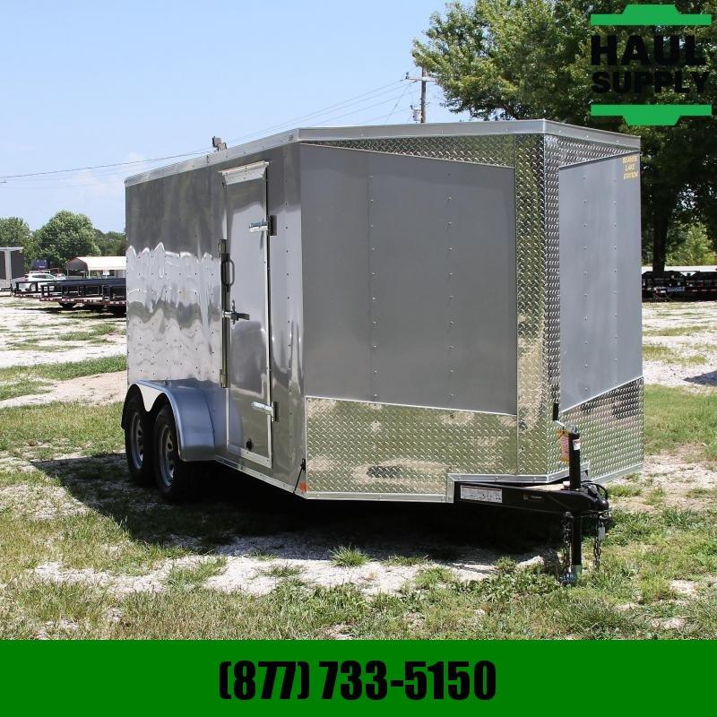 Lark 7X14 7K V-nose Enclosed Cargo Trailer Rea
