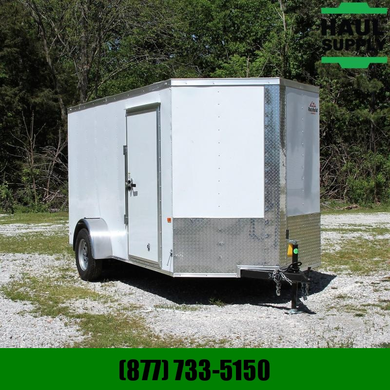 Rock Solid Cargo 6X12 V-NOSE CARGO TRAILER REAR RAMP ROOF