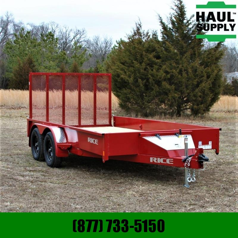 Rice 82X14 7K UTILITY TRAILER STEALTH LOOK 4FT
