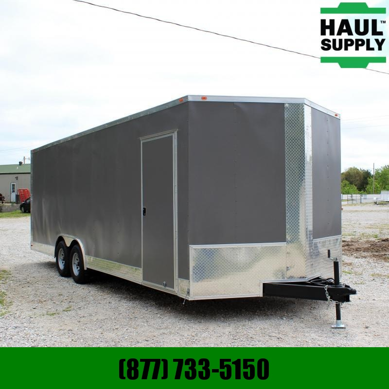Traveler Cargo 8.5X24 10K XT V-NOSE CAR HAULER REAR RAMP