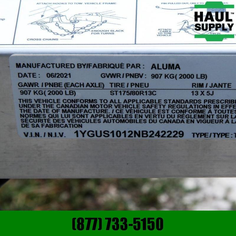 Aluma 63X10 NO RUST FRAME TORSION AXLE STRAIGHT