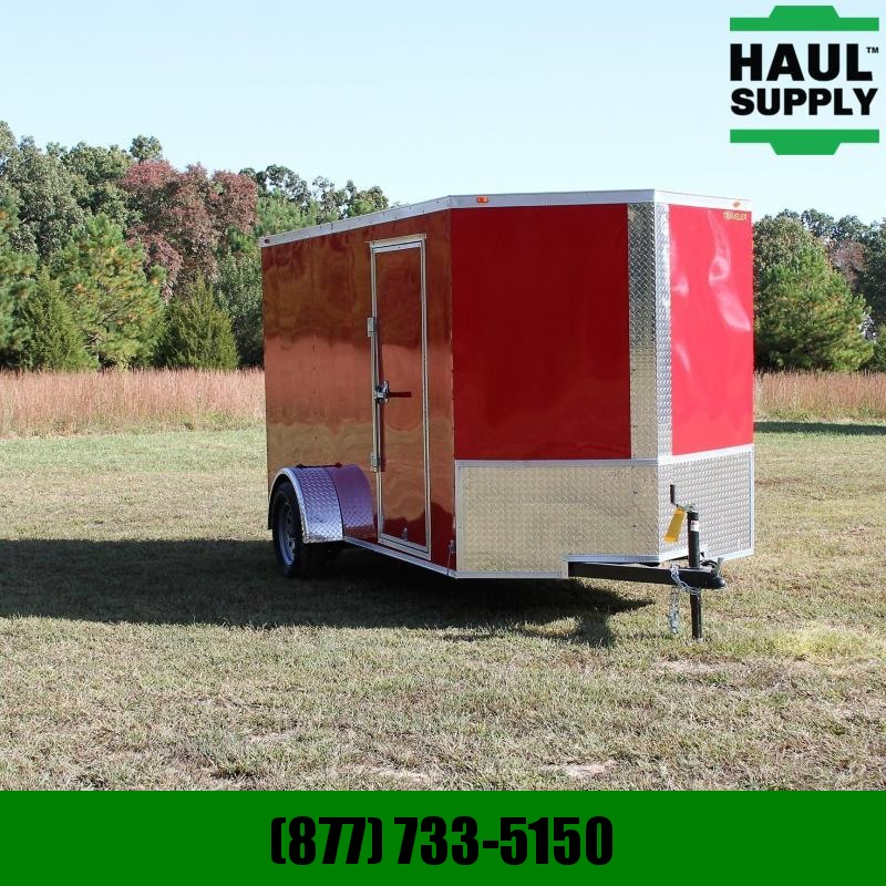 Traveler Cargo 6X12 V-nose Enclosed Cargo Trailer w/ Rea