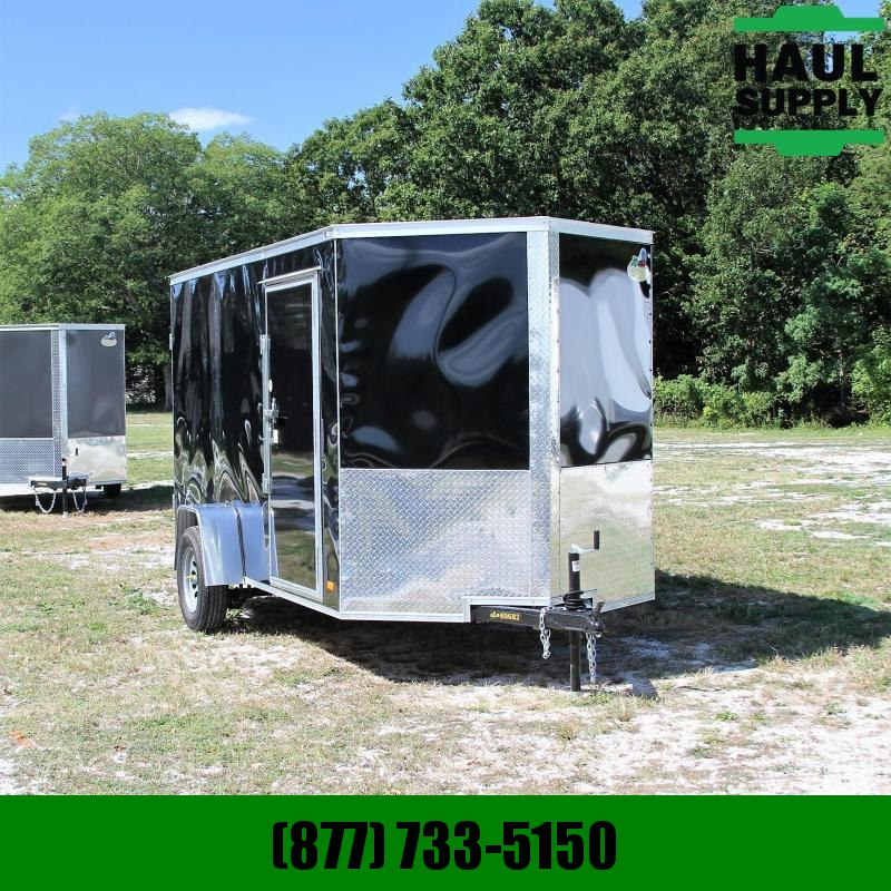 Covered Wagon Trailers 6X12 V-NOSE CARGO TRAILER DOUBLE REAR DOO